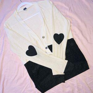 Heart-stitched Cardigan